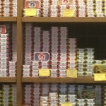 Tins of Sardines crammed in like…..Sardines