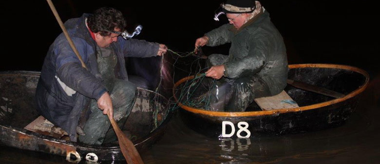 Coracle caught Salmon.